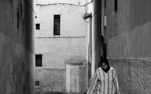 Woman Wearing Jellaba In The Lane