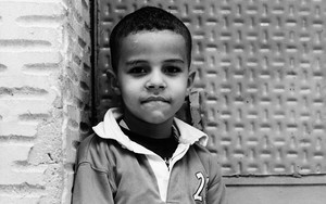 Boy Looking With A Fixed Gaze