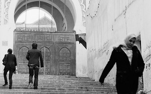 Stair In Front Of Al-Andalous Mosque