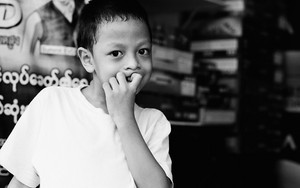 Wondering Face Of A Boy