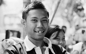Young Man With Vampire Teeth