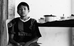 Boy Wearing A Football Shirt