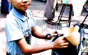 Boy Selling Drinking Water