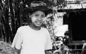 Boy Wearing A Camouflage-printed Hat