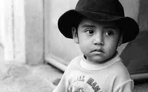Boy Wearing A Black Hat
