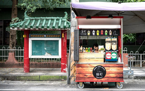 Juice Stand Selling Lactobacillus Beverage