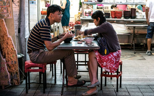 Couple Eating Noodles