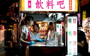 Drink Stand In Night Market