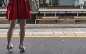 Red Skirt On The Platform