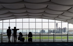 Two Silhouettes In Haneda Airport