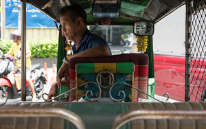 Tuk-tuk Driver With A Rough Look