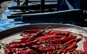 Red Peppers In The Tray