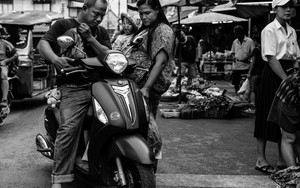 Family And Motorbike