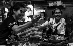 Women Eating Hot Pot