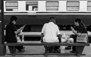 Three Persons On Bench