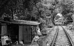Hut Beside Railway Track