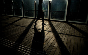 Silhouette On The Bridge