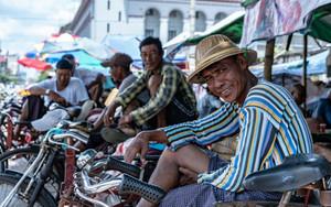Rickshaw Man Grinning