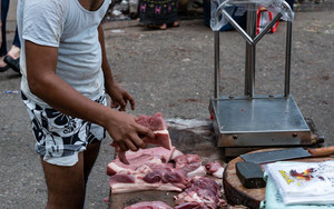 Man Selling Meat