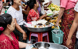 Laughing In Street Market