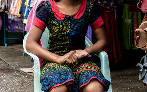 Girl Wearing A Colorful Dress