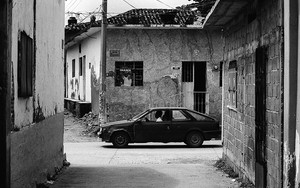 Car In The Desolate Street