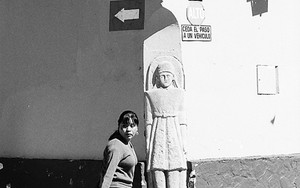 Street Corner With A Statue