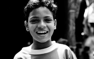 Boy Smiled Delightfully