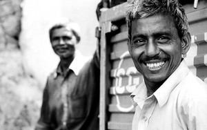 Man Working At Sassoon Dock Smiled