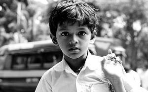 Dazed Expression Of A Boy