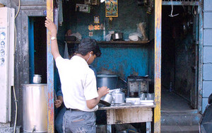 Small Hut Was A Chai Stand