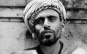Sadhu Wearing Big Earrings