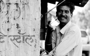 Man At A Stall
