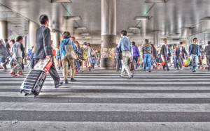 Crossing Near The Shibuya Station