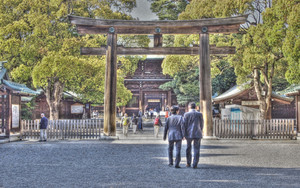 Business Suits In Meiji Jingu
