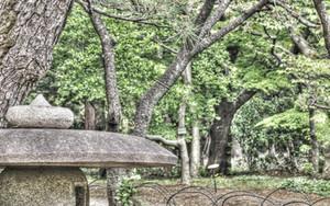 新宿御苑の石灯籠