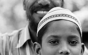Boy And His Father Wearing Taqiyah