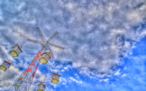 Sky Above The Amusement Park
