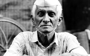 Man Wore A Gandhi Cap