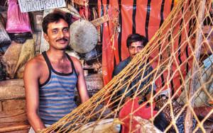 肉屋の男と網