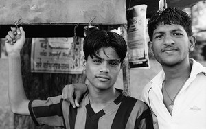 Two Men At A Chai Stand
