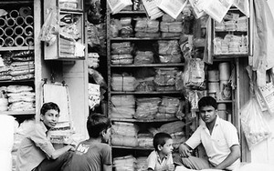 Men Relaxing In A Shop