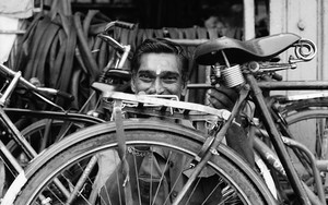 Man Among Many Bicycles