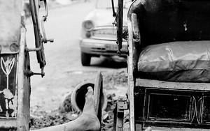 リクシャワラーの脚