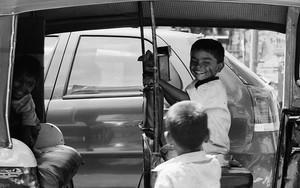 Kids In An Auto Rickshaw