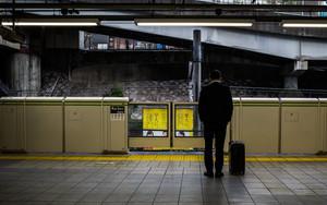 Businessman In Meguro Station
