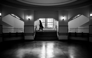 Silhouette In Central Hall