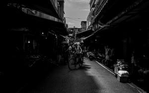 白蘭市場の自転車