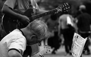 Duo Playing Guitars