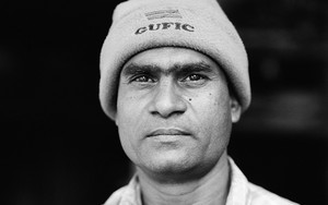 Man Wearing A Knit Hat